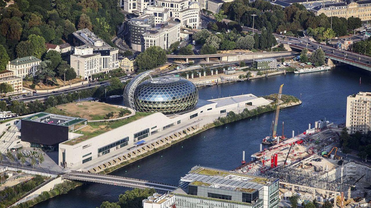 L'île de 12 hectares est déjà aménagée sur sa pointe ouest, où trône la Seine musicale.