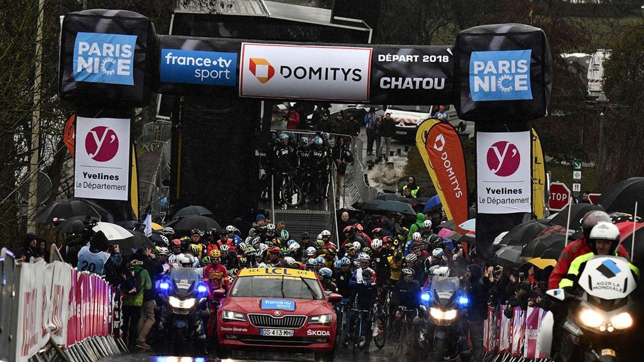 En 2018, Chatou accueillait le Paris-Nice.(Photo by JEFF PACHOUD/AFP)