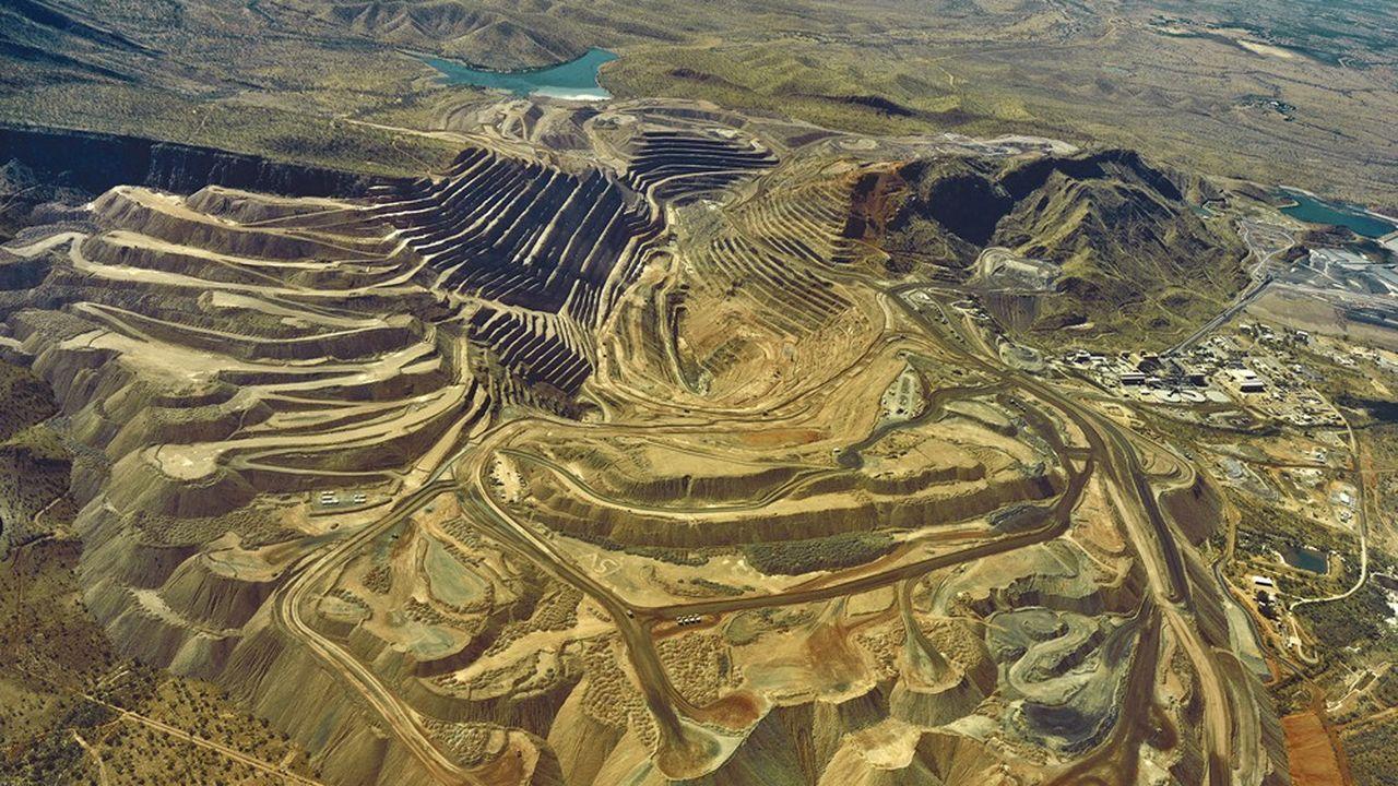 Vue aérienne de la mine d'Argyle, en Australie, fournissant 90% des diamants roses de la planète.