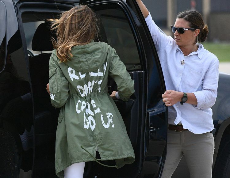 Melania Trump portant sa célèbre parka « I really don't care, do you ? »