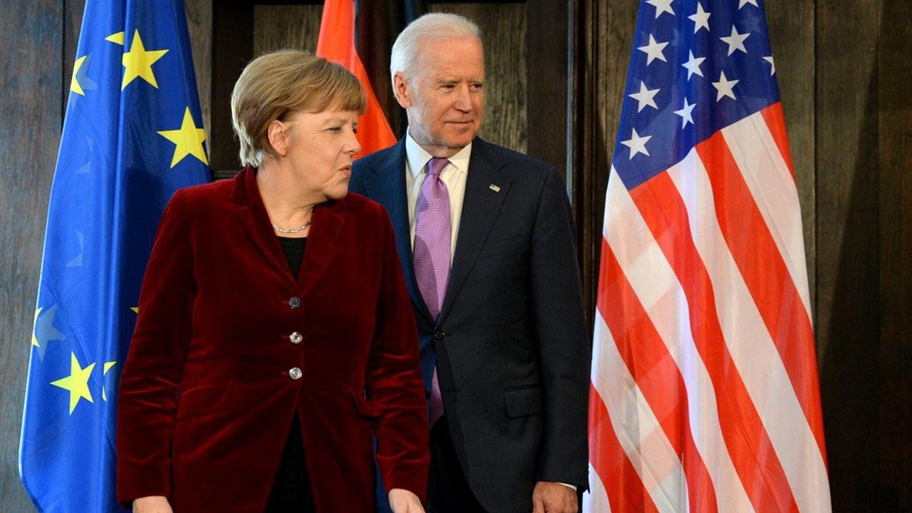 Angela Merkel et Joe Biden, en 2015.