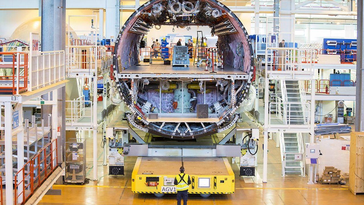 Quand, avant la crise, les cadences de la famille A320 atteignaient 63 avions par semaine, la capacité de l'usine était déjà un peu juste.