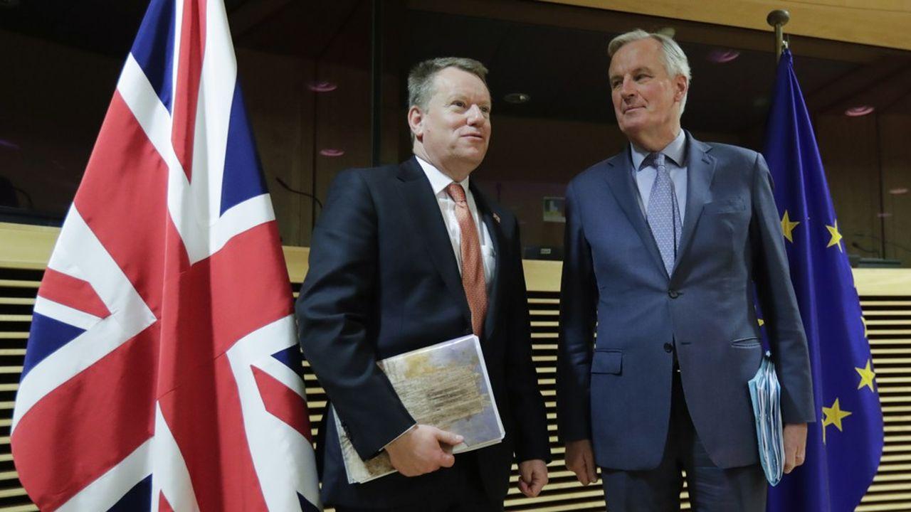 David Frost et Michel Barnier, les deux négociateurs en chef.