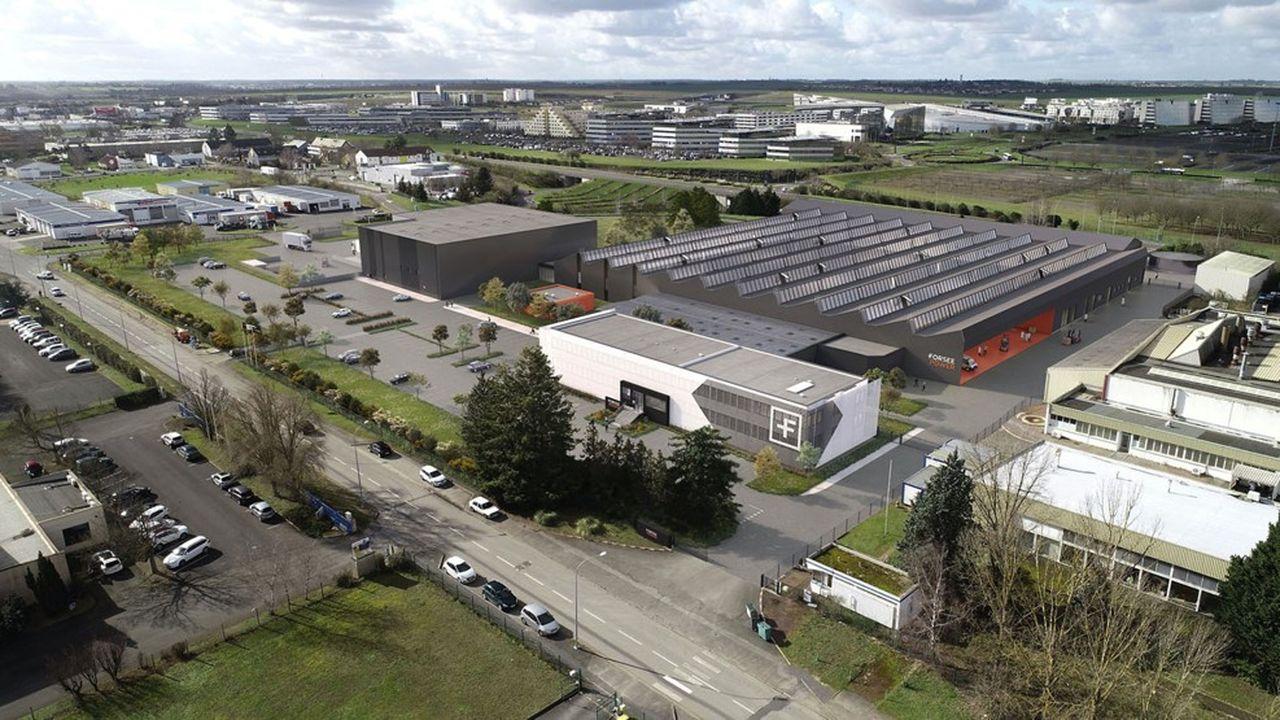 Forsee Power a choisi d'implanter son usine de production de batteries à Chasseneuil-du-Poitou, en face du Futuroscope.