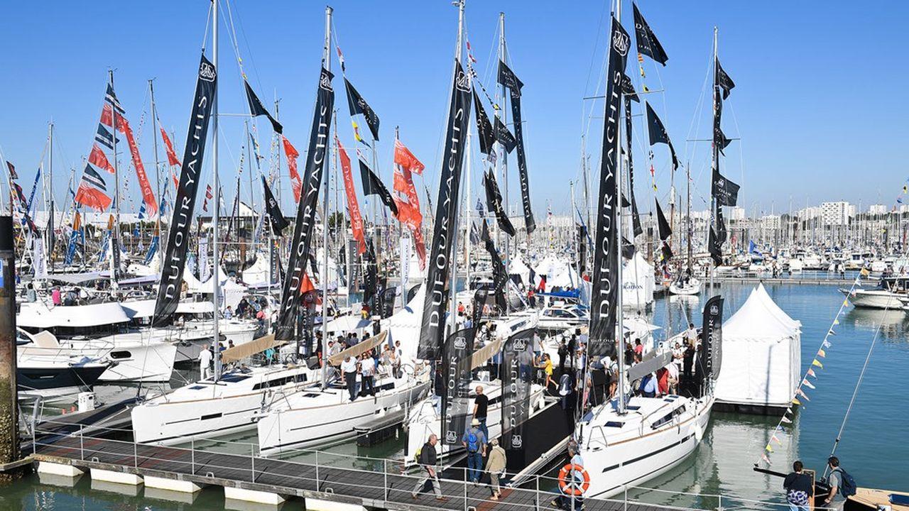 Des voiliers Dufour Yachts, dans le port de La Rochelle où se trouve le chantier naval du constructeur.