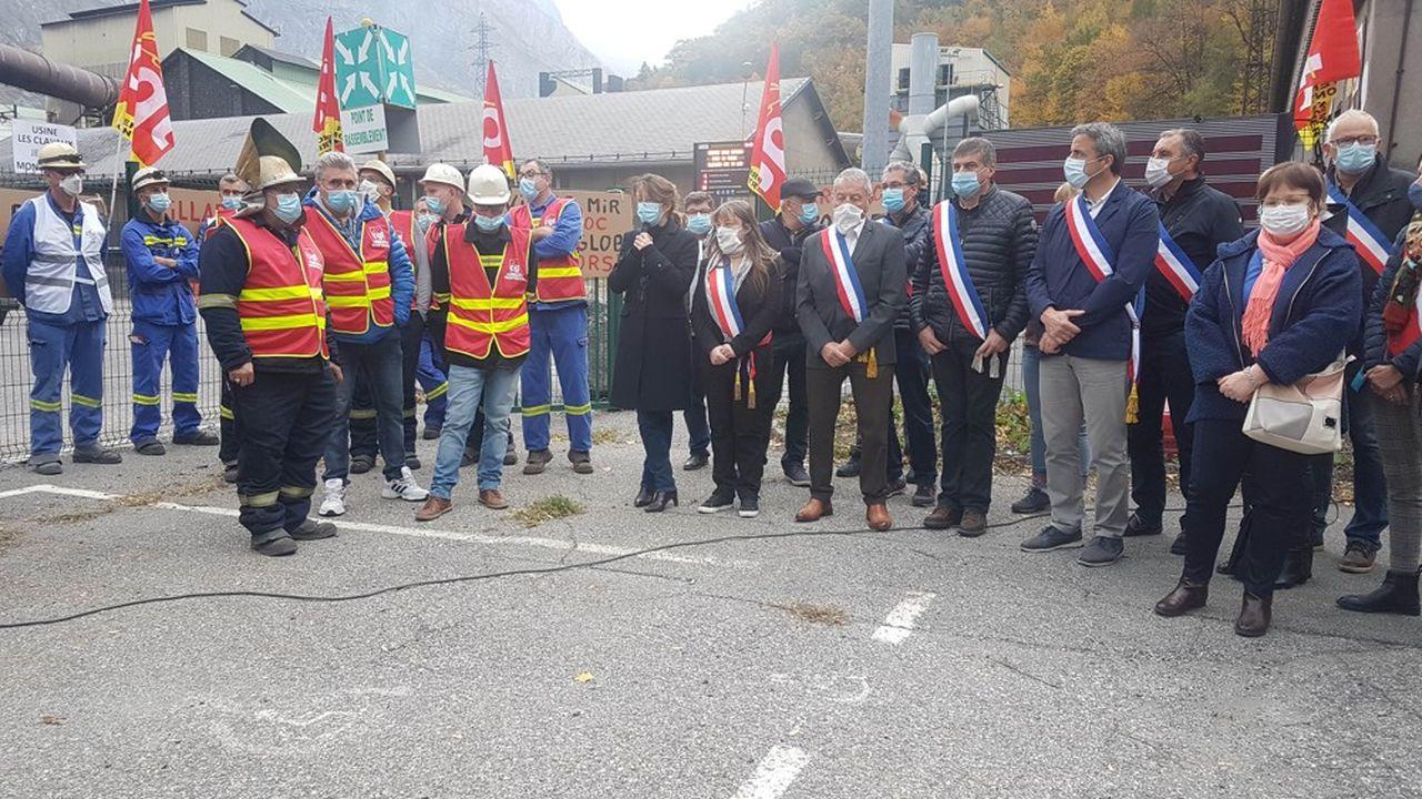 Fin octobre, syndicats et élus ont interpellé sur place les dirigeants du groupe Ferroglobe, maison mère.