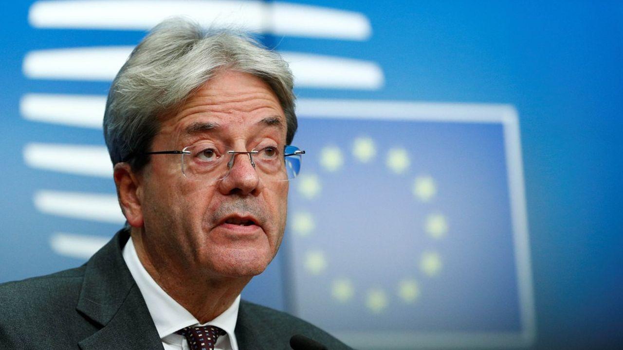 Le commissaire européen en charge des Affaires économiques, l'Italien Paolo Gentiloni.