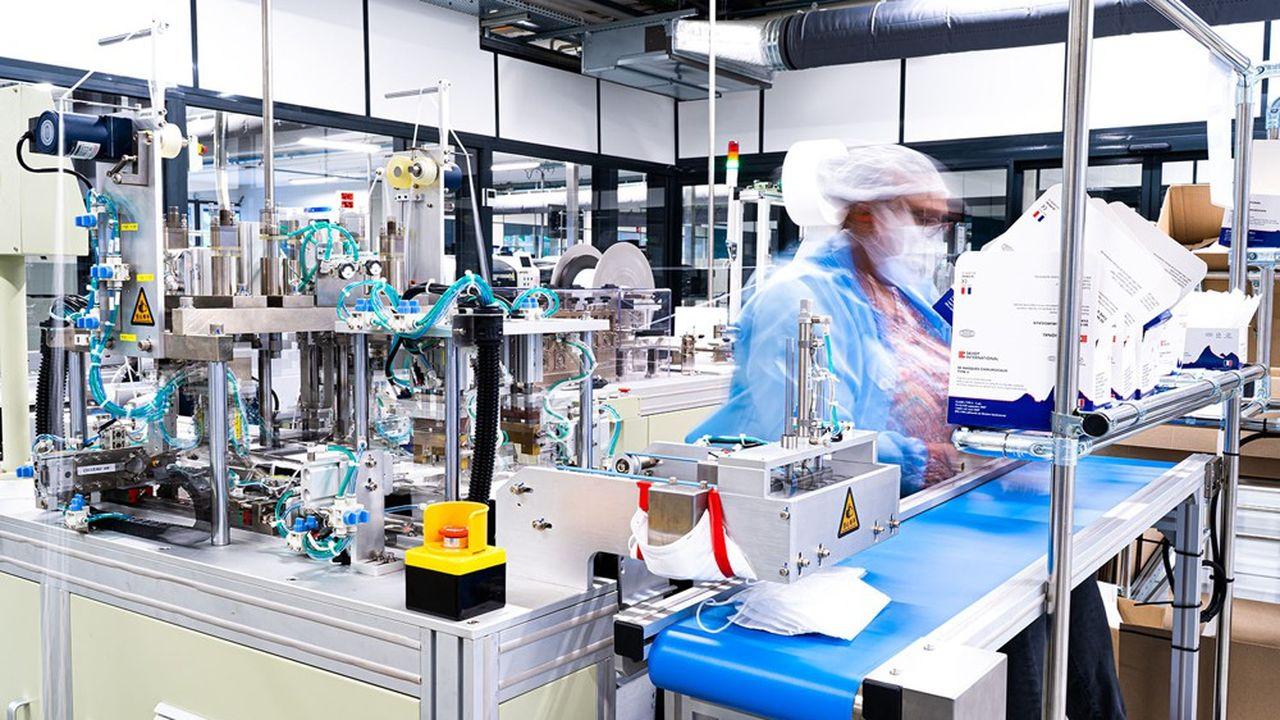 L'entreprise a déposé 10 brevets et les 10 salariés volontaires de départ du projet masques sont devenus 200.
