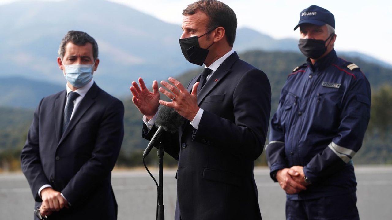 Les effectifs pour le contrôle aux frontières vont passer de 2.400 à 4.800 hommes, a annoncé ce jeudi Emmanuel Macron depuis les Pyrénées-Orientales.