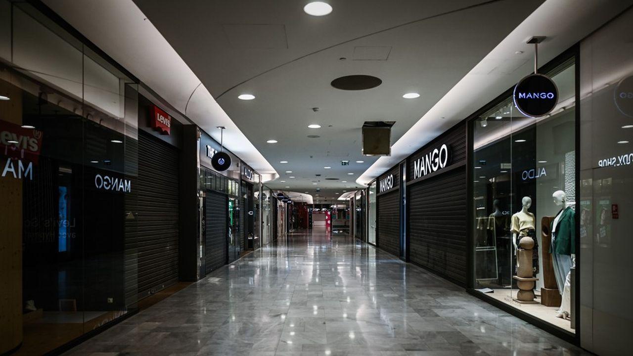 Au centre commercial des Halles, en mars dernier, pendant le premier confinement.