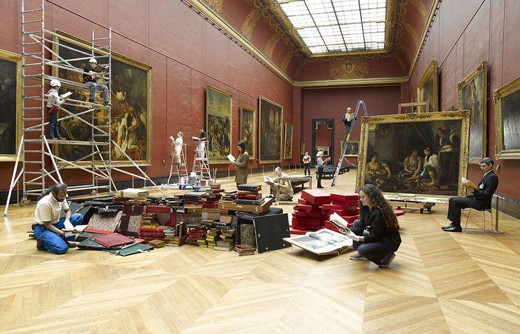 Making-of de « Livre/ Louvre », autour de « Fuir ».
