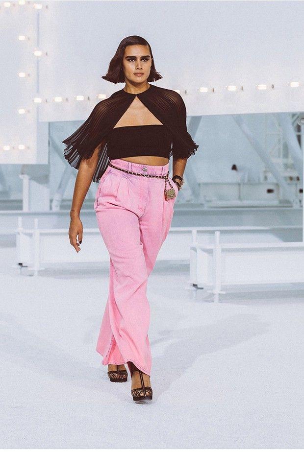 Jill Kortleve durant le défilé Chanel printemps-été 2021.
