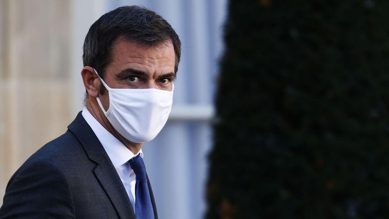 Olivier Véran mercredi à l'Elysée, à l'issue du Conseil de défense.