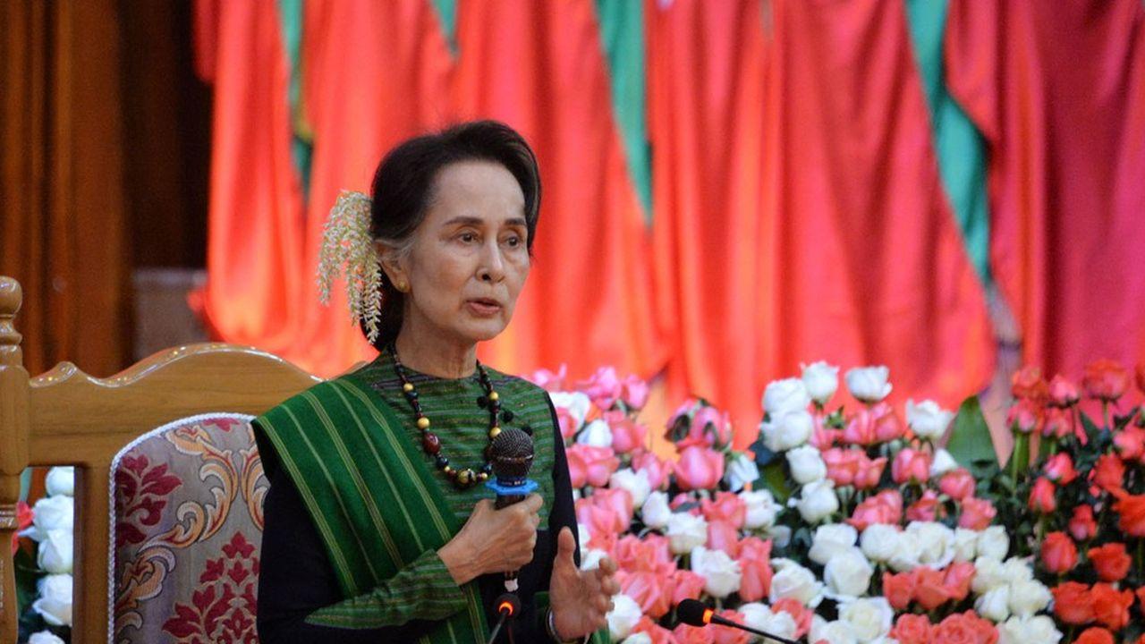 La campagne d'Aung San Suu Kyi a été perturbée par l'épidémie de coronavirus et a conduit à l'annulation de nombreux meetings.