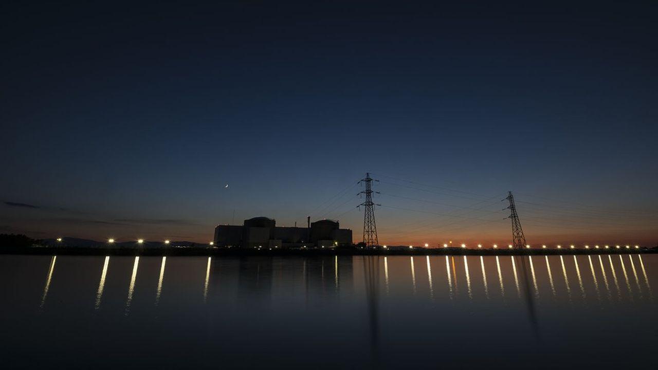 La centrale nucléaire de Fessenheim, en Alsace, quelques jours avant sa fermeture, fin juin2020.