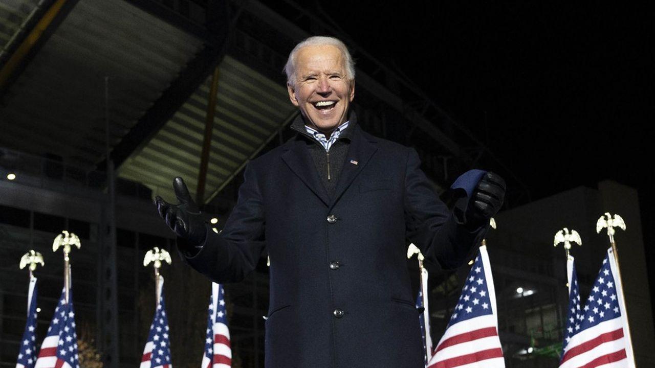 Joe Biden, un vétéran de la politique américaine, se pose en rassembleur.