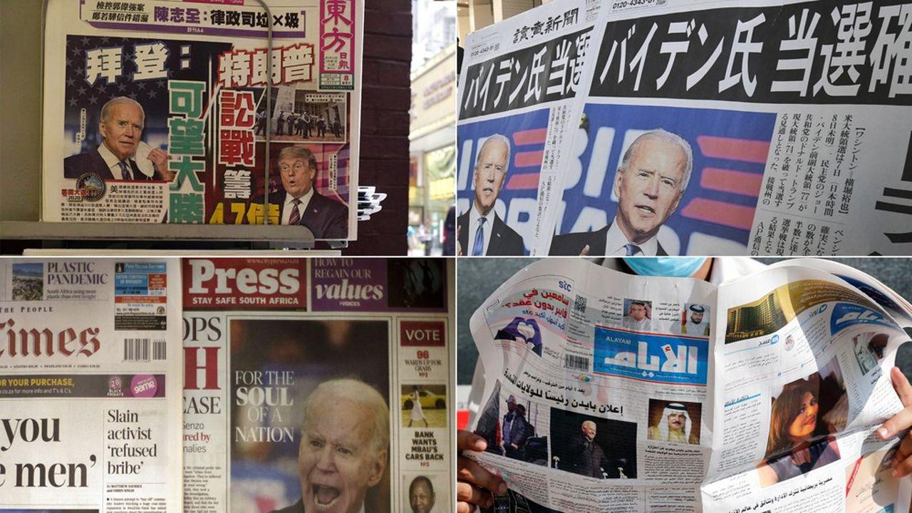 Joe Biden «met fin à quatre ans de règne erratique de Donald Trump», écrit le grand journal du dimanche sud-africain The Sunday Times.