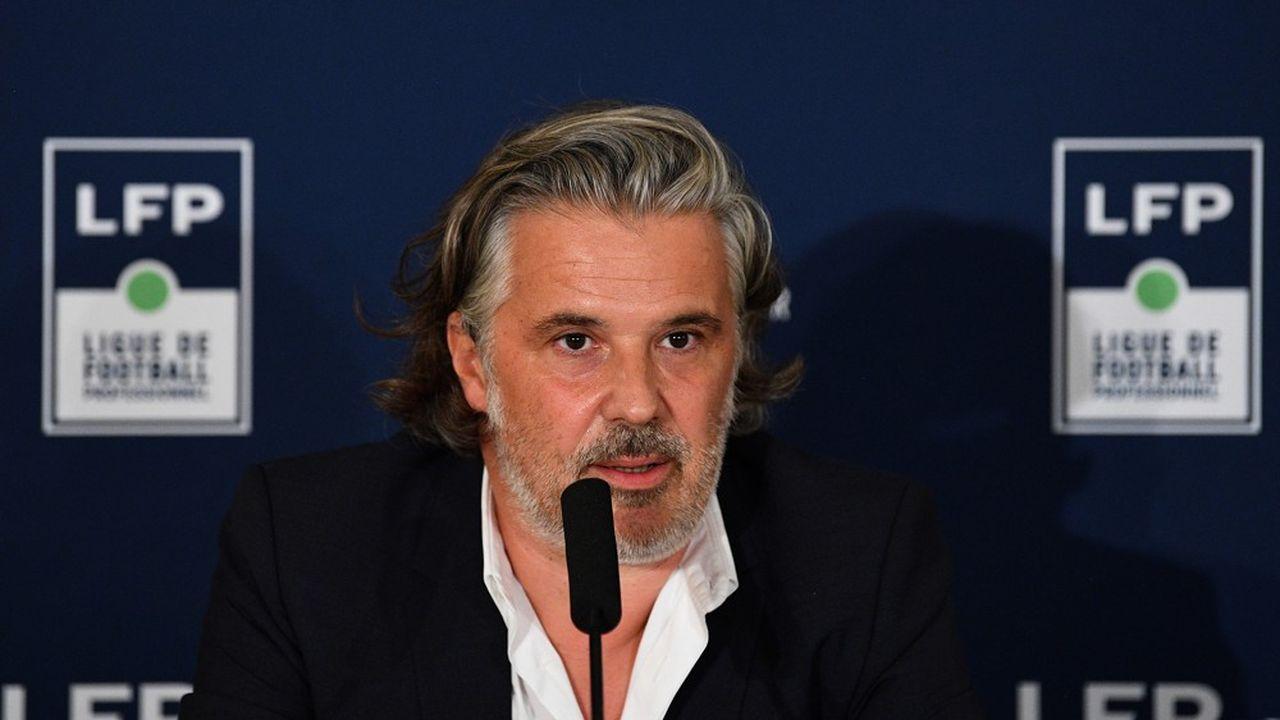 Vincent Labrune, le patron du foot français, dit ne pas fermer la porte à une négociation avec Mediapro sous l'égide du Tribunal de Commerce