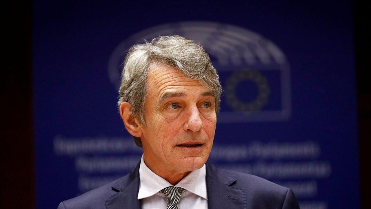 Depuis juillet, le Parlement européen (notre photo: son président David Sassoli) a cherché à pousser à la hausse les ambitions du budget européen.