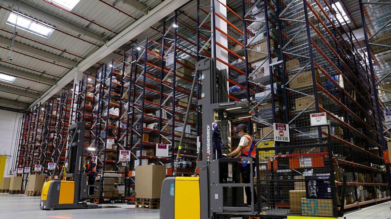 Le centre de distribution d'Amazon à Boves, près d'Amiens.
