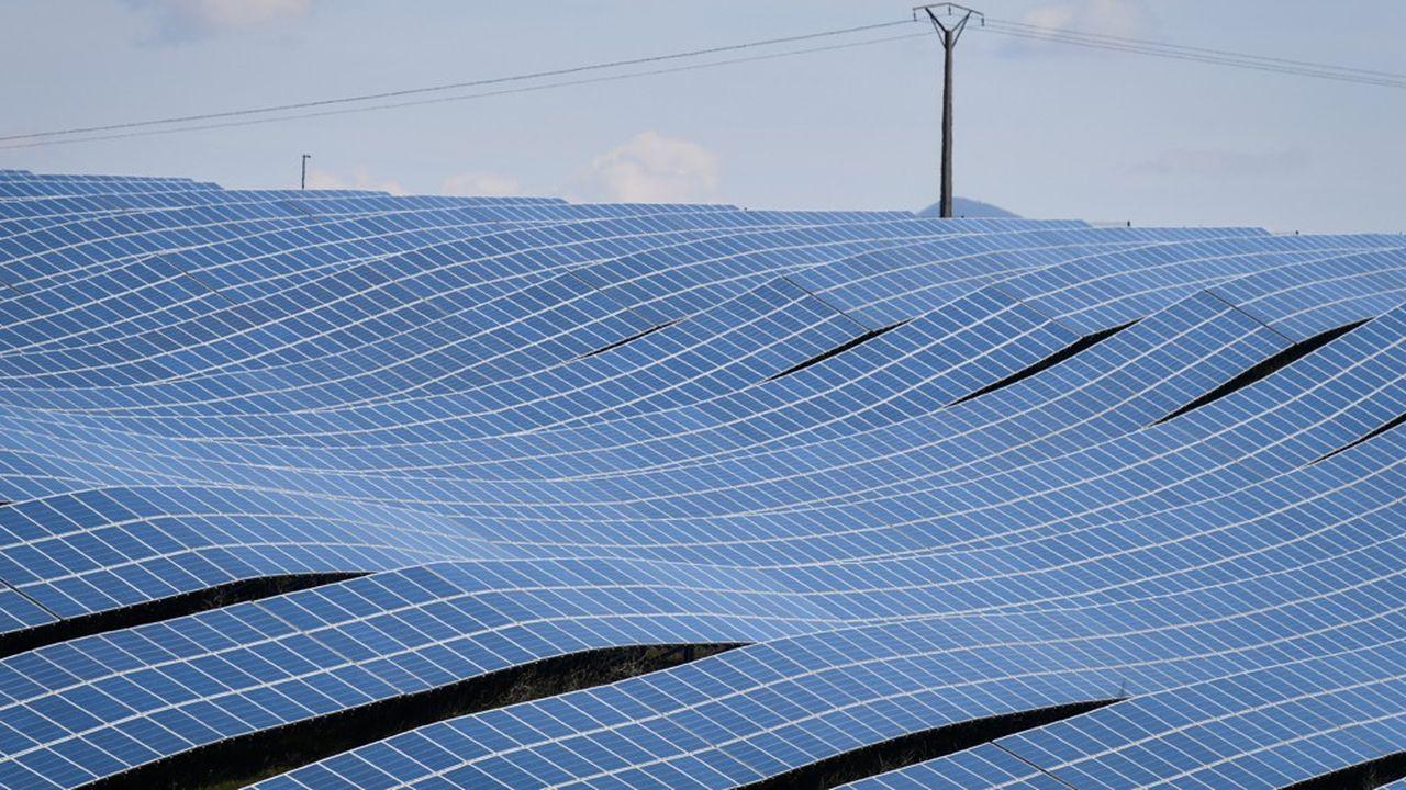 Amarenco compte aujourd'hui parmi les principaux développeurs de projets solaires en France, avec 250 mégawatts en exploitation. (Photo by GERARD JULIEN/AFP)