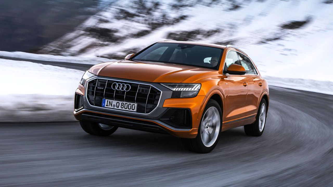 Les gros SUV comme l'Audi Q8 (de 2.170 à 2.390kilos selon les versions) devraient acquitter le malus au poids à partir de 2022.