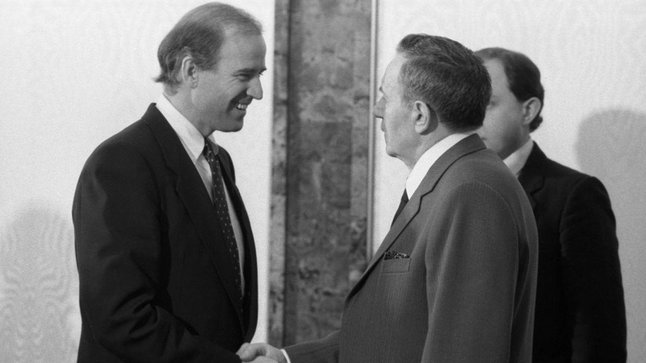 Le 15janvier 1988, Joe Biden, sénateur alors du Delaware, était reçu au Kremlin par Andreï Gromyko, président du praesidium du Soviet suprême de l'URSS.