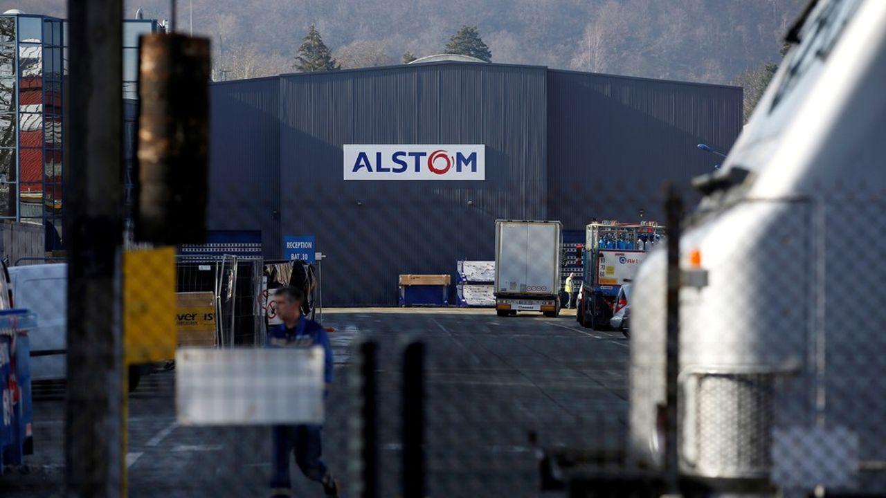 L'usine Alstom de Belfort, dans l'est de la France.