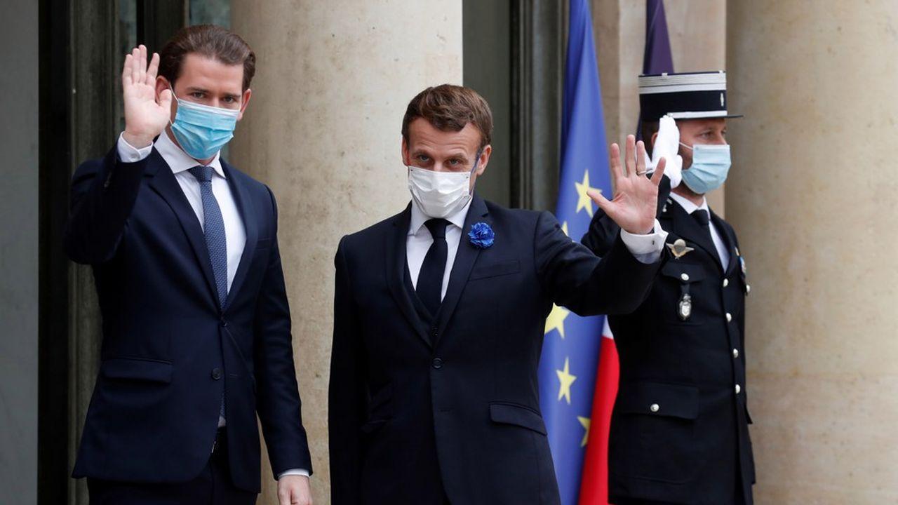 Le président français Emmanuel Macron a reçu mardi à l'Elysée mardi 10novembre pour des échanges consacrés à la lutte contre le terrorisme