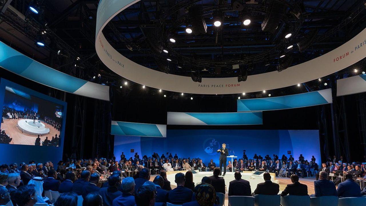 L'année dernière, le Forum de Paris sur la paix s'était tenu dans la Grande Halle de La Villette en présence d'Emmanuel Macron.