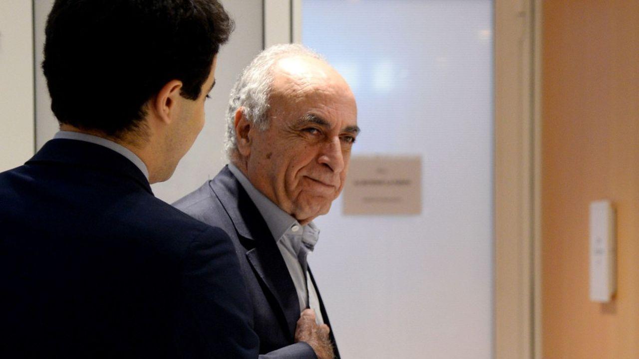 Ziad Takieddine, l'homme d'affaires franco-libanais lors du procès de l'affaire Karachi au tribunal de Paris.