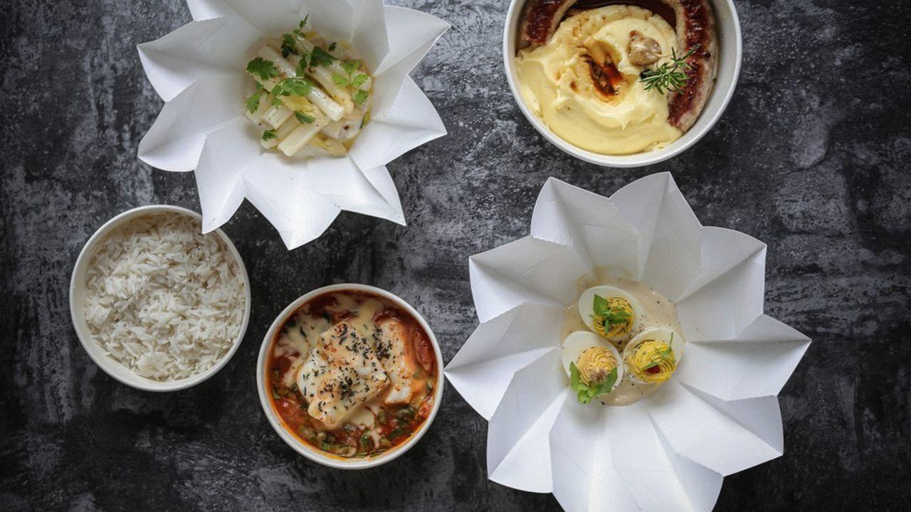 Le Lazare, un des restaurants du chef triplement étoilé Eric Frechon, propose des plats à emporter ou en livraison avec le concours de la start-up TipToque.