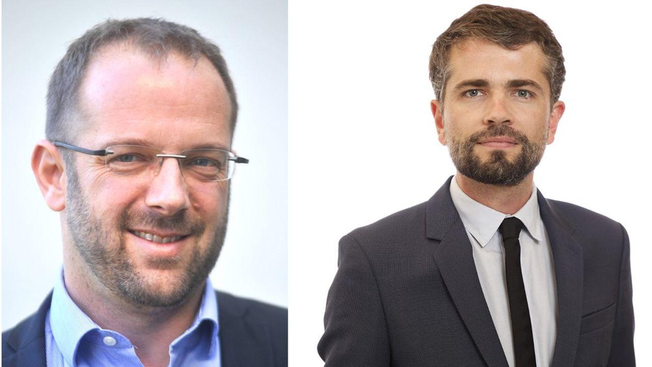 Vincent Delorme, à gauche, et Julien Plantier, à droite.