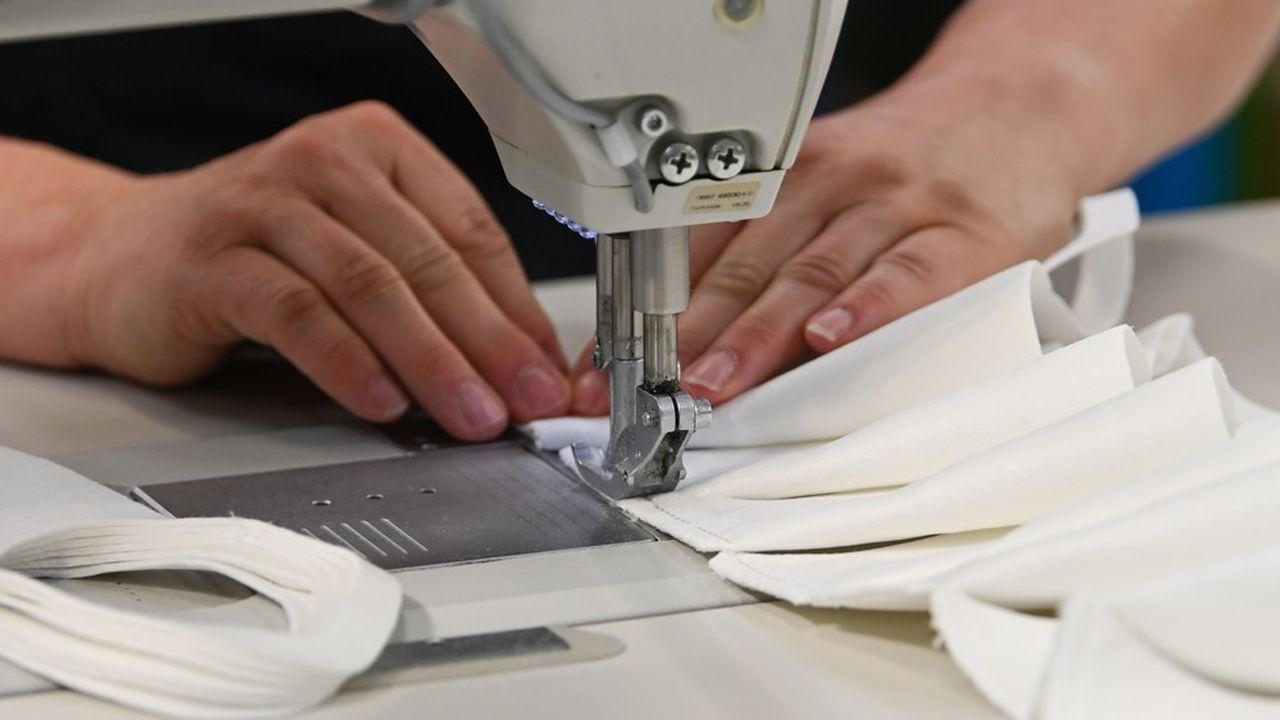L'unité de Ris-Orangis fabrique pour l'instant des masques, trousses et sacs en tissus