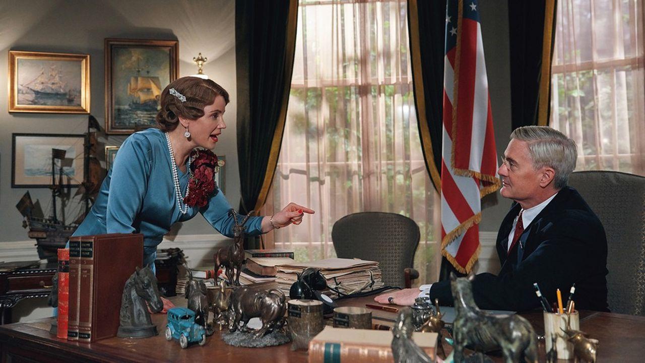 Sofia Helin (Martha) et Kyle MacLachlan (Franklin Roosevelt) dans «Atlantic Crossing».