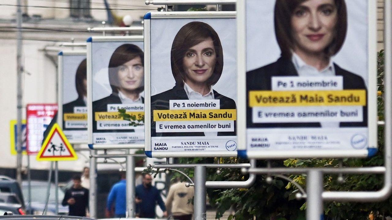 Maia Sandu, candidate à la présidentielle du parti de centre droit Action et Solidarité, est en tête avant le deuxième tour de dimanche en Moldavie.