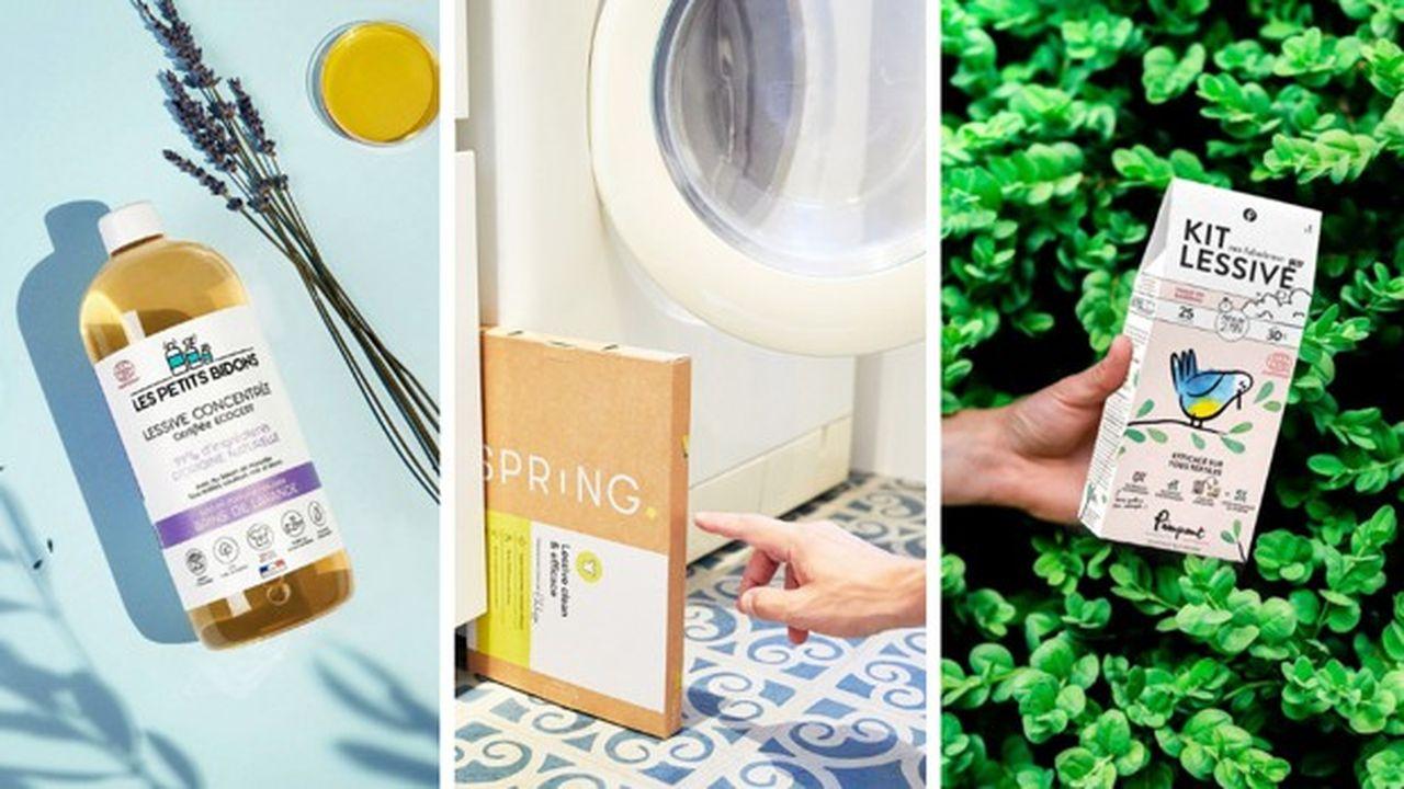 Plusieurs start-up créées ces dernières années misent sur des lessives écolo.