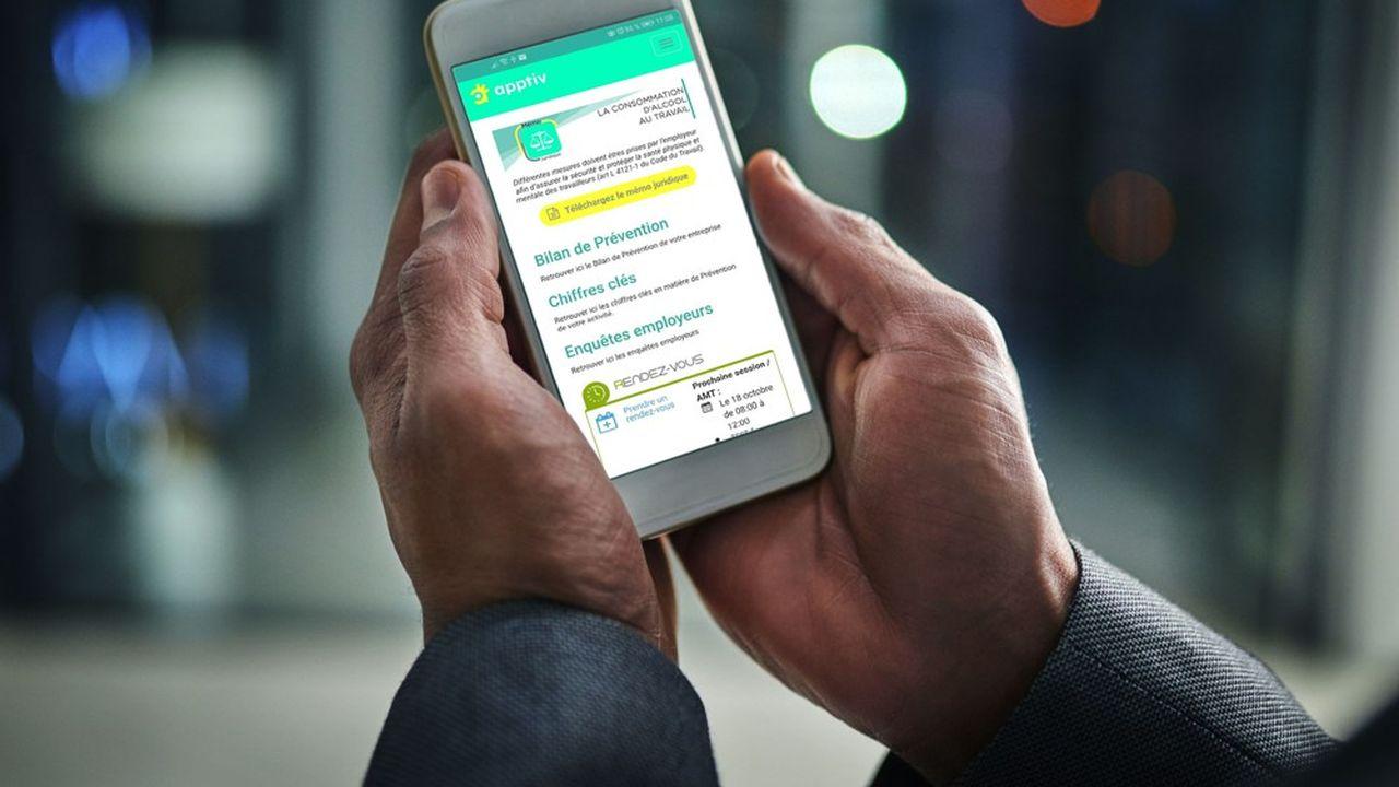 En centralisant les données, l'application Apptiv crée une cohérence entre les visites médicales, les plans de prévention et leur efficacité.
