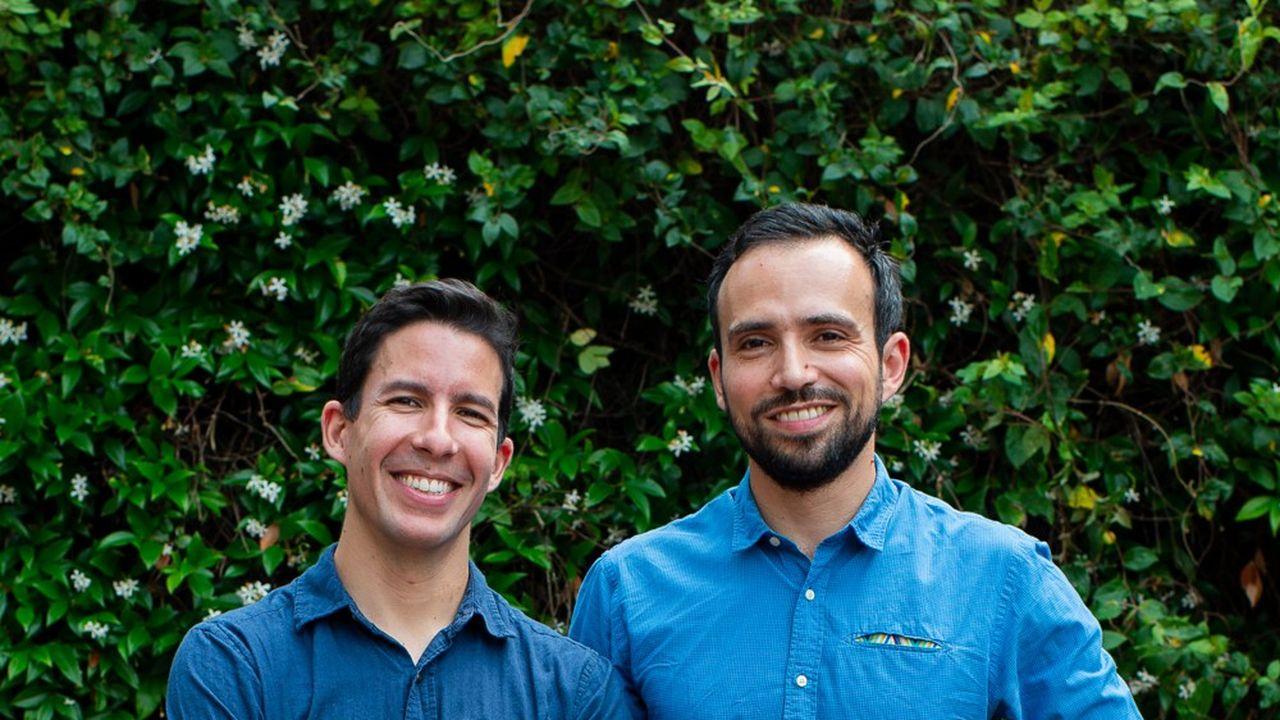 Hakim Baka et Florian Blanc, cofondateurs de Geev.