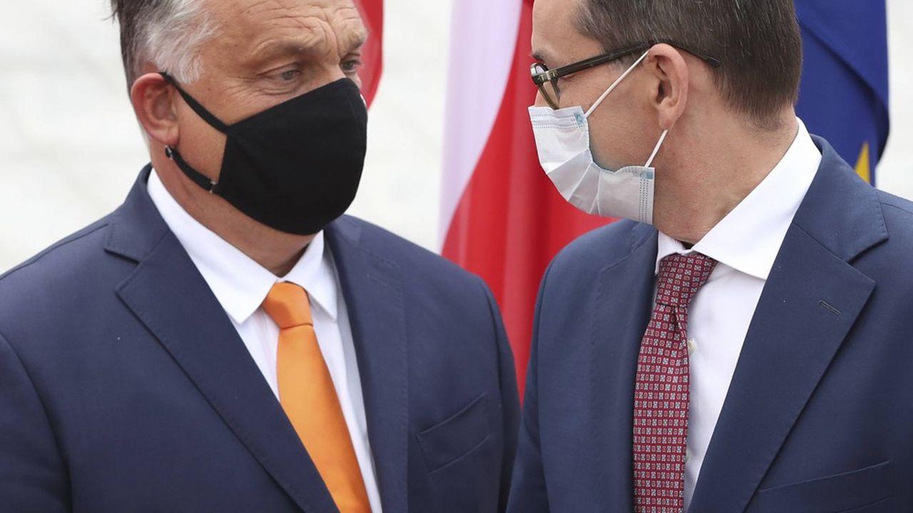 Viktor Orban et Mateusz Morawiecki, les chefs de gouvernement des deux pays, sont vent debout contre un dispositif qu'ils accusent d'aller à l'encontre de leur souveraineté.