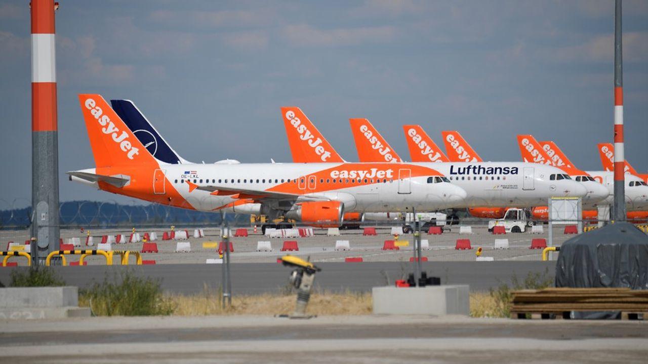 La majorité des avions orange d'easyJetvont rester au sol cet hiver, faute de passagers.