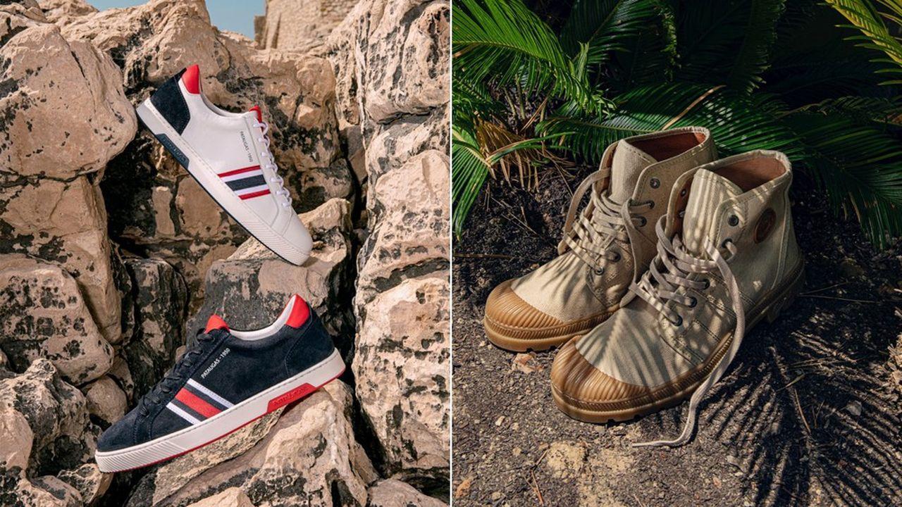 A côté du modèle iconique qui a fait sa notoriété, la marque mise aussi largement sur les sneakers.