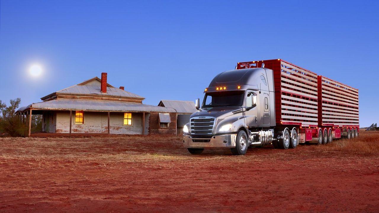Le Freightliner Cascadia de Daimler Trucks.