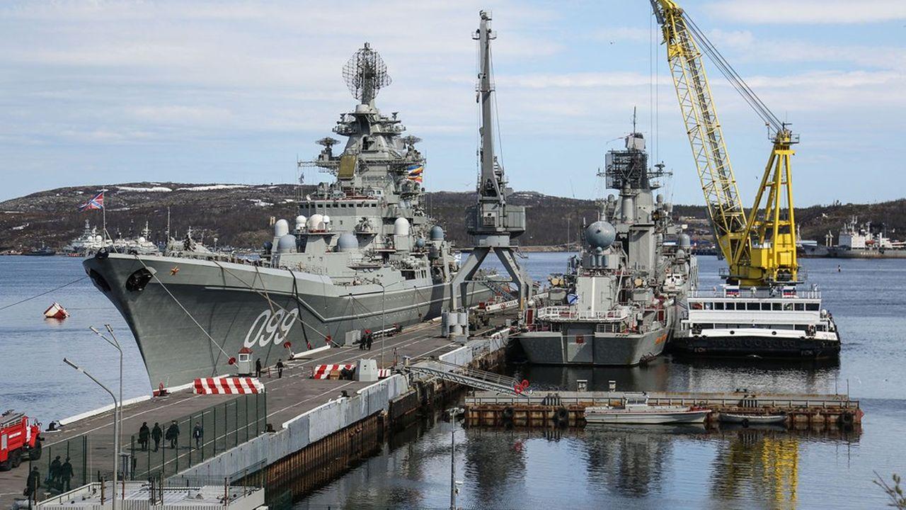 Le croiseur nucléaire russe, Pierre le Grand, ici au mouillage en Russie, pourrait accoster prochainement au Soudan Sputnik/SIPA