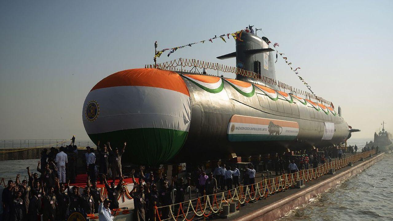 Avec l'appui de Nava Group, l'Inde a mis à l'eau son cinquième sous-marin Scorpène la semaine dernière.