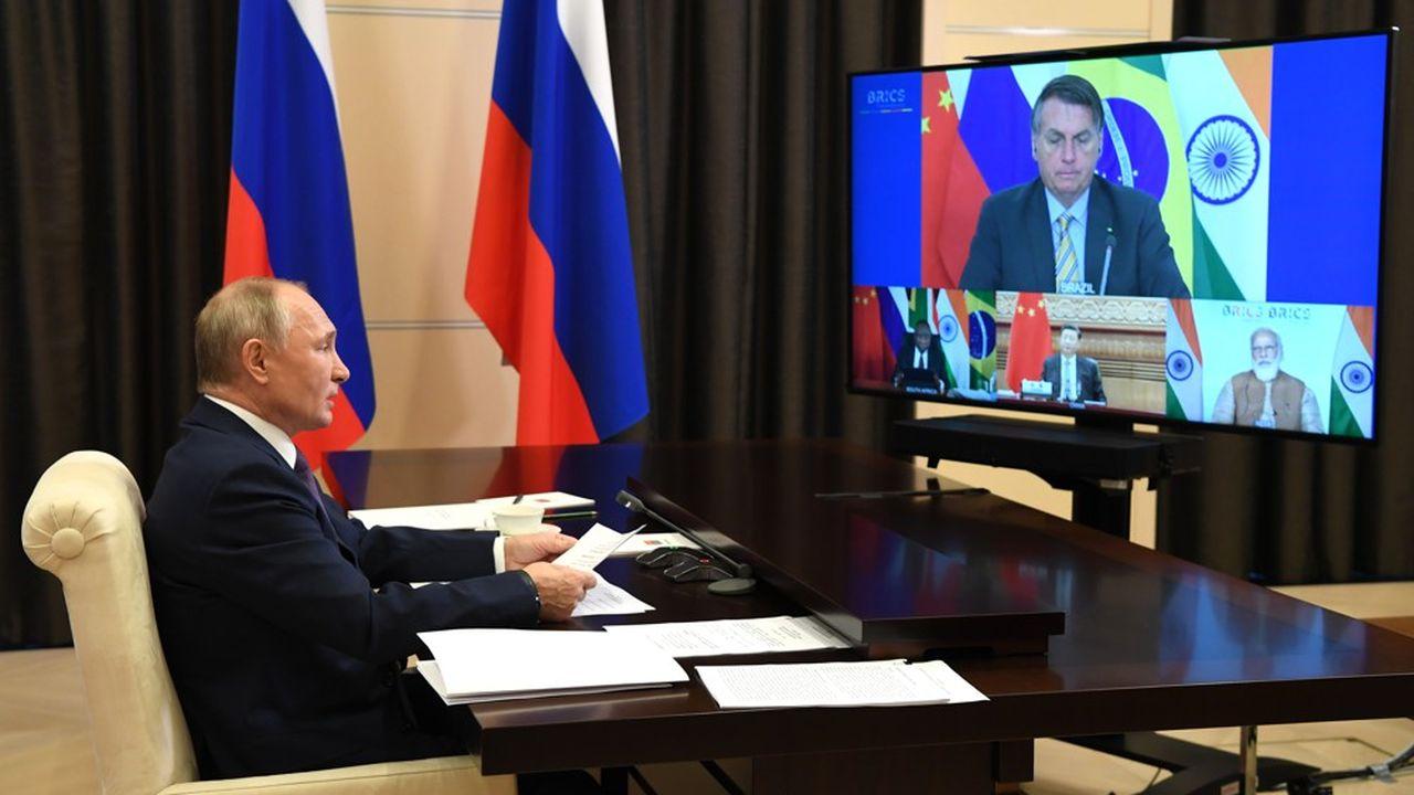 Les cinq dirigeants des grands émergents se retrouvaient ce mardi pour un sommet des Brics virtuel sous la présidence de Vladimir Poutine.