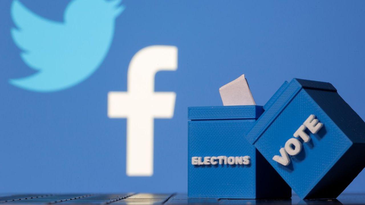 Mark Zuckerberg et Jack Dorsey ont mis en avant l'arsenal déployé en novembre, notamment un signalement des messages de Donald Trump et de ses alliés annonçant prématurément ou faussement une victoire et remettant en cause l'intégrité du vote.
