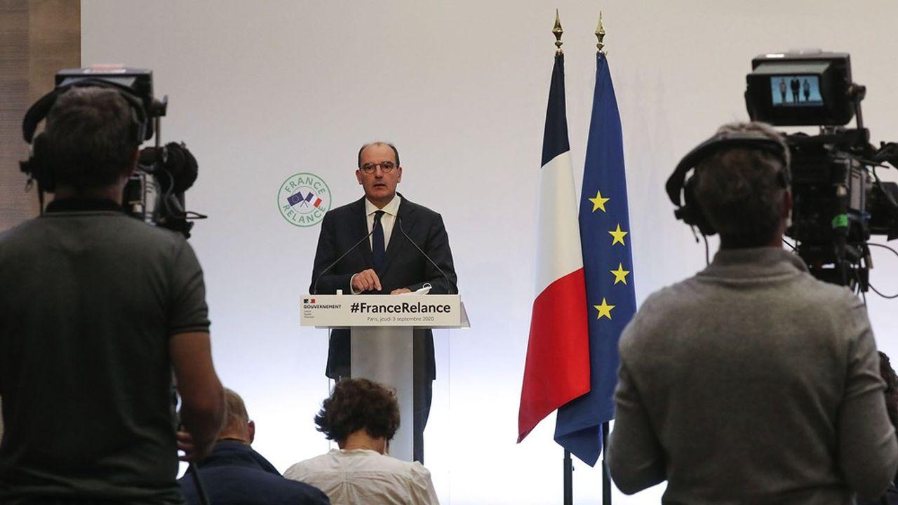 Conférence de presse du Premier Ministre, Jean Castex, le 3 septembre 2020.