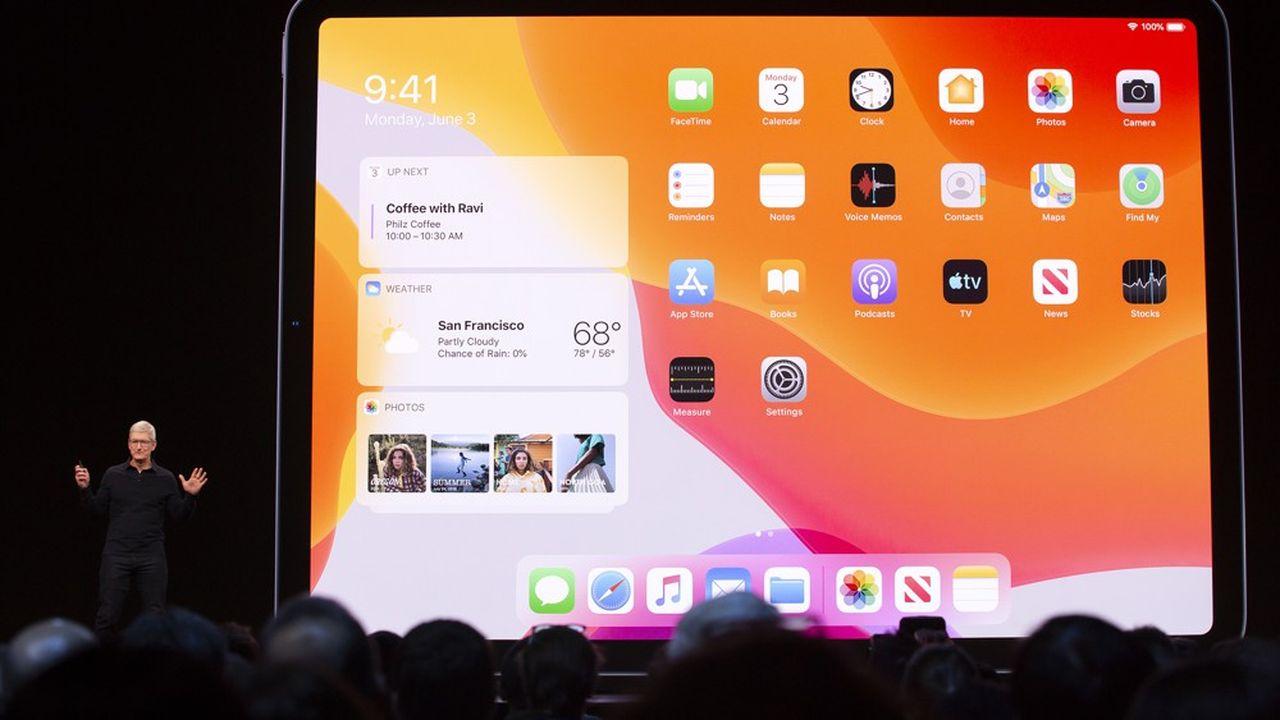 Tim Cook, le patron d'Apple, a fait des services -et particulièrement de l'App Store- une machine à cash.