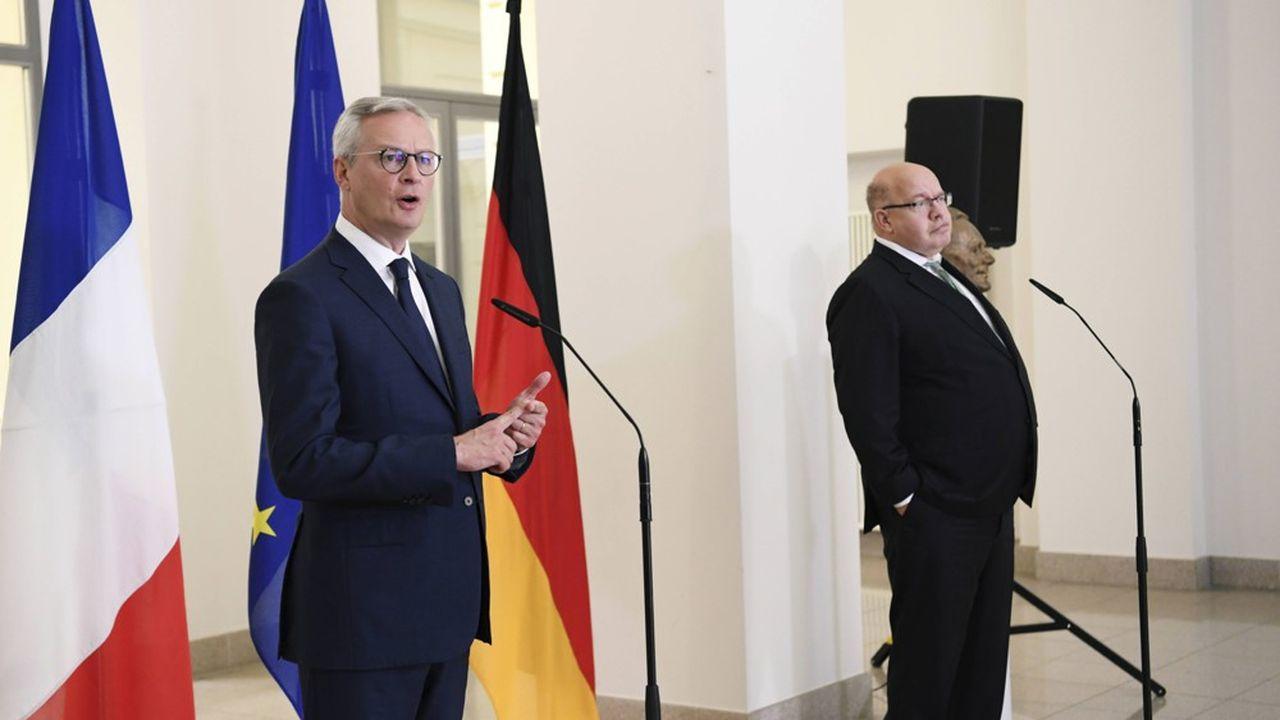 Les ministres de l'Economie français, Bruno LeMaire, et allemand, Peter Altmaier, ont porté le projet européen de «cloud souverain» à bout de bras depuis son lancement en juin2020.